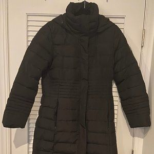 Calvin Klein Maxi Puffer Coat With Removable Hood